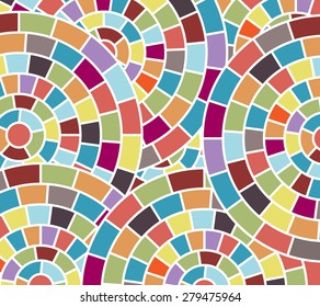 Fun colorful mosaic  background