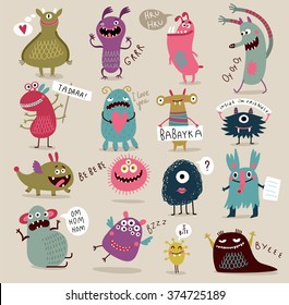 Fun Cute Cartoon Monsters
