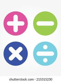 Fun and cute vector children's math symbols