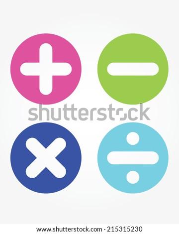 Fun Cute Vector Childrens Math Symbols Stock Vector Royalty Free