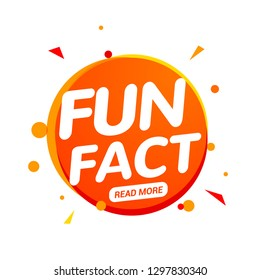 Fun fact typography bubble. Did you know knowledge design text message phrase information.