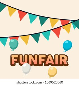 Fun Fair Banner Design Illustration