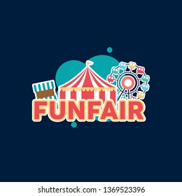 Fun Fair Banner Design Illustration