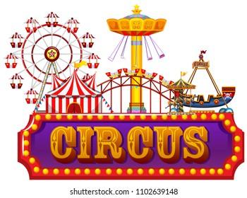 A Fun Fair Circus Banner illustration