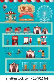 fun fair/ fairground/ circus vector/illustration