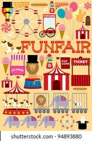 fun fair illustration/vector