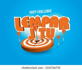 Fun Fair/Circus Games masthead design. Translation: Dart Challenge.