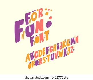 For fun font set design italic version