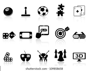 fun game icons set