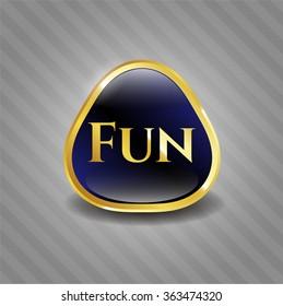 Fun gold badge or emblem