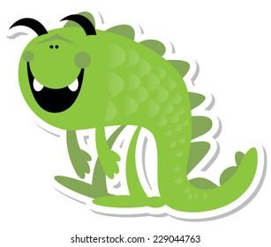Fun Green Monster