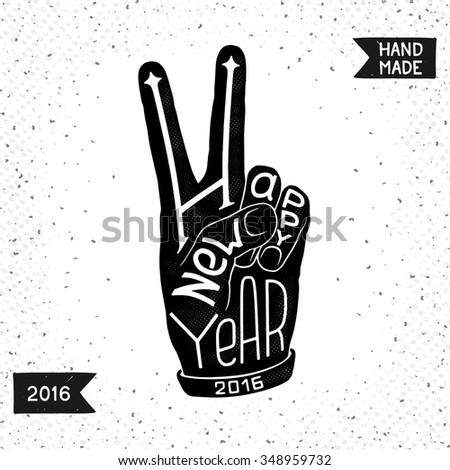 Fun Happy New Year Conceptual Symbol Stock Vector (Royalty Free ...