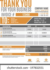 Invoice Template Stock Images RoyaltyFree Images Vectors - Customizable invoice template