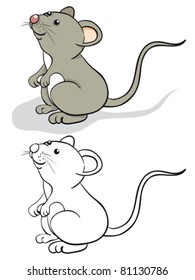 Fun mouse. Color and contour