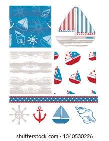 Fun nautical themed backgrounds.