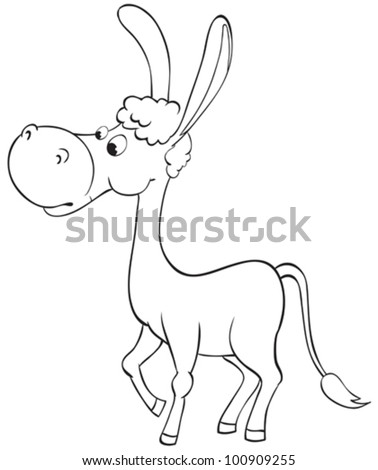 fun outline donkey stock vector royalty free 100909255 shutterstock All Breeds of Fish fun outline donkey
