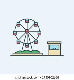 Fun park vector icon illustration