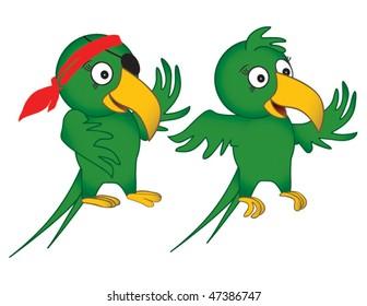 Fun Parrot Drawings in Vector Format