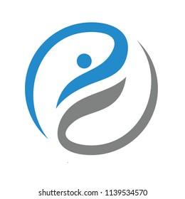 Fun people Healthy Life Logo vector