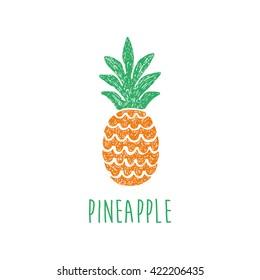 fun pineapple vector illustration