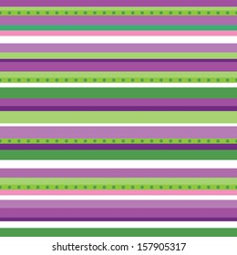 Fun seamless background with purple and green stripes. Great for Baby Shower, Baptism, Christmas, Birthday, Easter, Scrapbook, Gift Wrap, surface textures. See my folio for other colors.