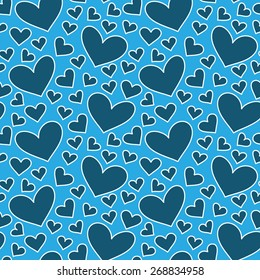 Fun seamless vintage love heart background in pretty colors. Great for baby announcement, Valentine's Day, Mother's Day, Easter, wedding, scrapbook, gift wrapping paper, textiles.