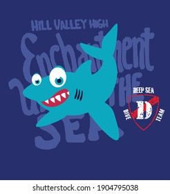 fun shark with seabed elements