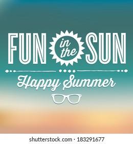 Fun in the Sun Happy Summer Vector