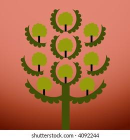 fun tree vector