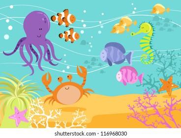Fun Underwater Scene