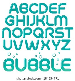 Fun Vector bubble font with rounded strokes. Custom type design
