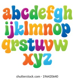 Fun vector font for kids - 2 Lower case letters