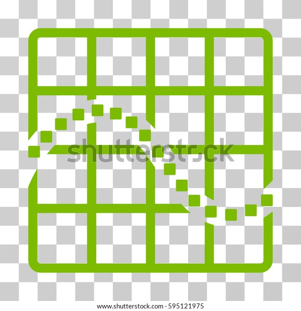 Function Chart icon. Vector illustration style is flat iconic symbol, eco green color, transparent background. Designed for web and software interfaces.