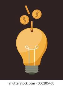 Funding digital design, vector illustration eps 10