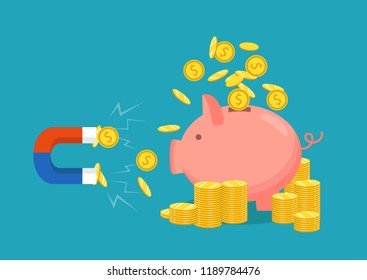 Fundraising concept, financial security and investment. Vector icon