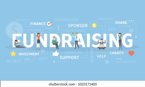 Fundraising concept illustration. Idea of support, investment and sponsor.