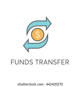 Funds Transfer Vector Icon