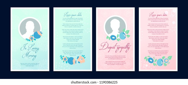 Funeral card with a place for a profile photo