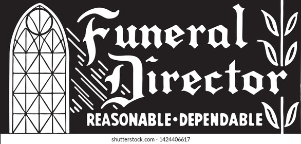 Funeral Director 3 - Retro Ad Art Banner for Undertakers