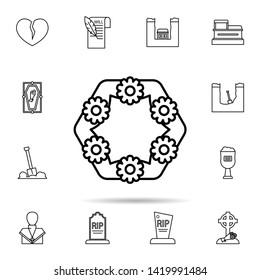 funeral, flowers icon. Universal set of funeral for website design and development, app development