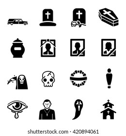 Funeral Vector Icon Set