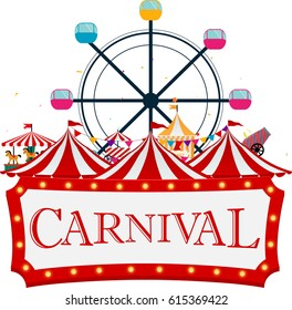 Funfair and carnival background