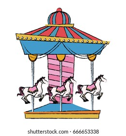 funfair circus carousel horse canival