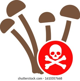 Fungicide vector icon. Flat Fungicide symbol is isolated on a white background.