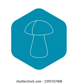 Fungus boletus icon. Outline illustration of fungus boletus vector icon for web
