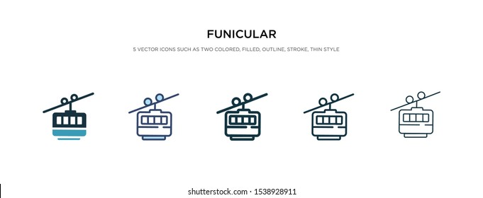 funicular icon in different style vector illustration. two colored and black funicular vector icons designed in filled, outline, line and stroke style can be used for web, mobile, ui