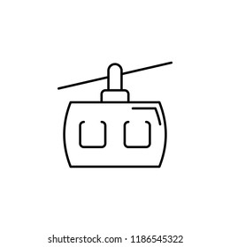 funicular icon. Element of transportation icon for mobile concept and web apps. Thin line funicular icon can be used for web and mobile