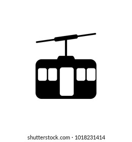 funicular icon. Elements of transport icon. Premium quality graphic design icon. Signs and symbols collection icon for websites, web design, mobile app on white background