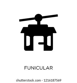 Funicular icon. Funicular symbol design from Summer collection. Simple element vector illustration on white background.