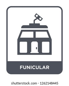 funicular icon vector on white background, funicular trendy filled icons from Summer collection, funicular simple element illustration